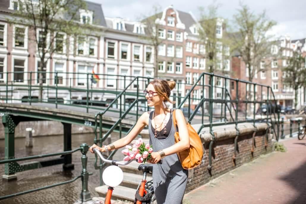Visite guidée d'Amsterdam, Visite en français d'Amsterdam en vélo avec Aurore