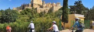 visiter l'acropole d'Athènes en français à vélo avec Alexandra à vélo électrique