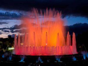 visite en français de Montjuïc fontaines de Gaietà Buïgas
