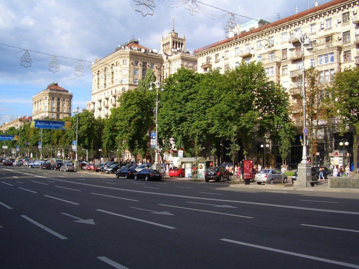 La rue principale Krechtchatik à Kiev
