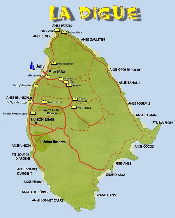 carte la digue seychelles